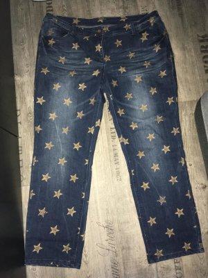 Stylische Stretchjeans mit Sternen Gr.46-Cecil