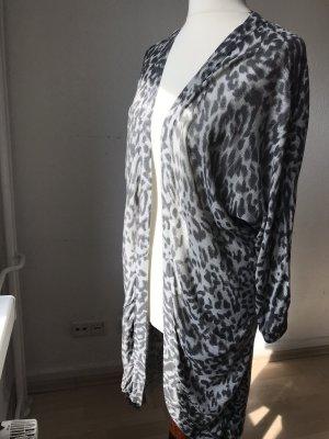 H&M Basic Knitted Coat grey-black