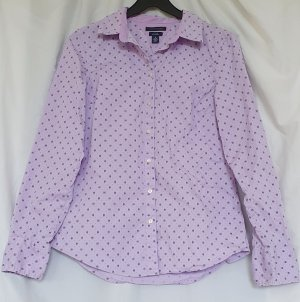 Stylische taillierte Langarm-Hemdbluse in flieder aus bequemem Baumwollstretch von Tommy Hilfiger in Größe M