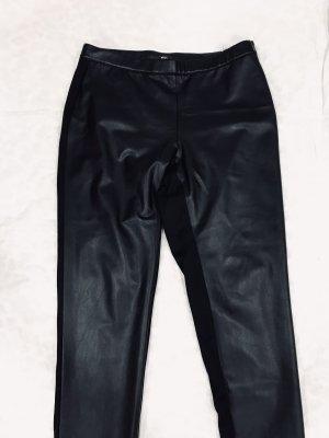 My Own Leren broek zwart