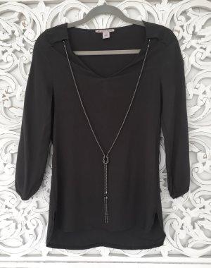 stylische Tunika Bluse von Anna Field mit abnehmbarer Kette * anthrazit * Gr. XS 34