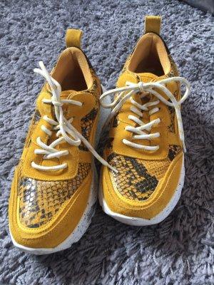 Stylische Ugly Sneaker gelb/schwarz/weiß Poelman Größe 39