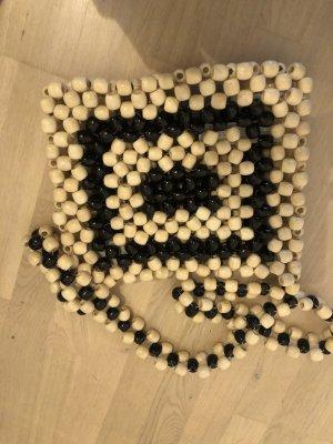 Zara Borsa a spalla nero-crema