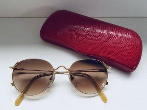 Stylische Vintage Sonnenbrille mit Goldrahmen aus London
