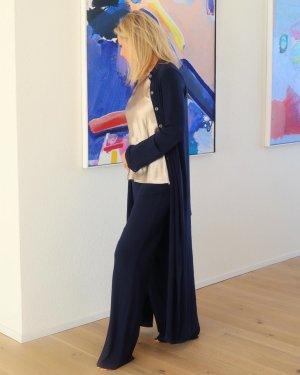 Długi płaszcz ciemnoniebieski Wiskoza