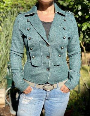 Stylischer Blazer Jacke petrol Größe 34