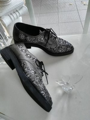 Café Noir Lace Shoes black-dark grey