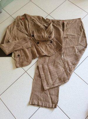 Esprit Trouser Suit light brown-beige linen