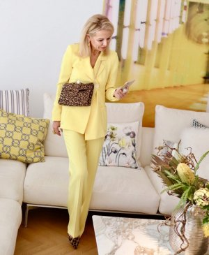 (The Mercer) NY Garnitur damski bladożółty Poliester