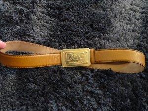 Dolce & Gabbana Cinturón de cuero camel Cuero