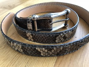 Reptile's House Leather Belt multicolored leather