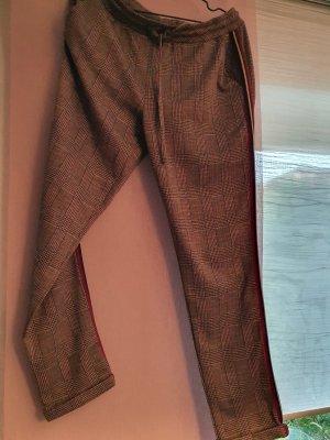 Aniston Stoffen broek grijs-bordeaux