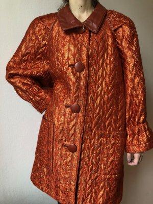 Abrigo de piloto naranja oscuro tejido mezclado