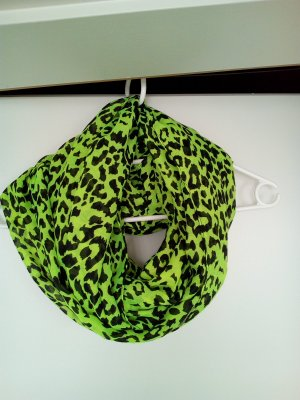 Pieces Snood meadow green-black cotton