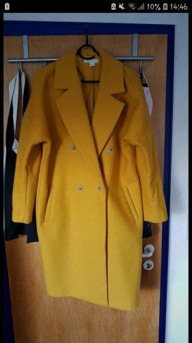 H&M Płaszcz oversize żółty