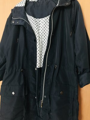 Heavy Raincoat dark blue-white polyester