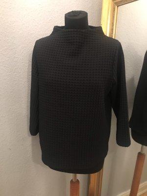 Opus Stand-Up Collar Blouse dark grey-black