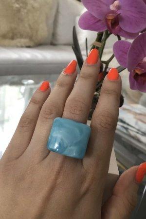 1.2.3 Paris Statement Ring turquoise-light blue