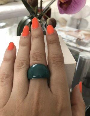 Stylischer Ring grün Gr. S; Neu Mit Etikett