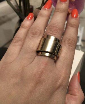 Stylischer Ring  in Gold Gr.M Neu Mit Etikett