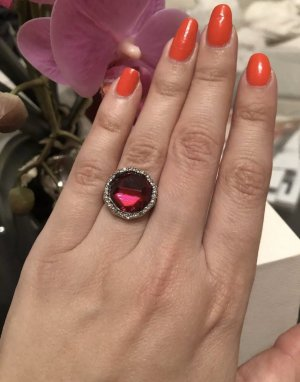 1.2.3 Paris Statement Ring silver-colored-dark red