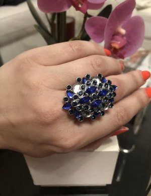 1.2.3 Paris Statement Ring silver-colored-blue
