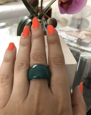 1.2.3 Paris Statement Ring silver-colored-petrol