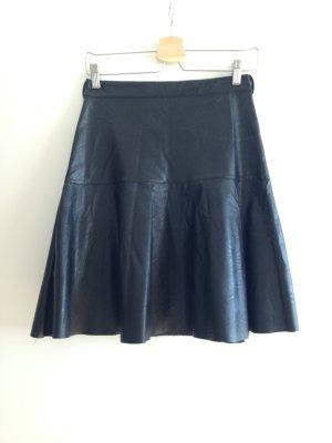 Rinascimento Faux Leather Skirt black
