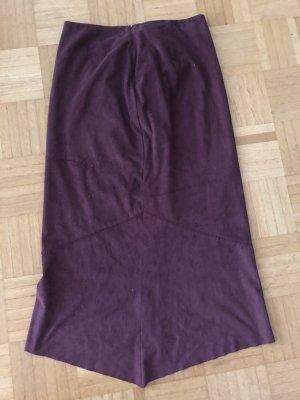 Skórzana spódnica czerwona jeżyna