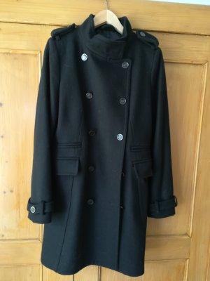 Mango Manteau en laine noir laine