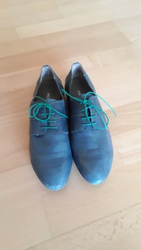 Andrea Manueli Lace Shoes cornflower blue-green