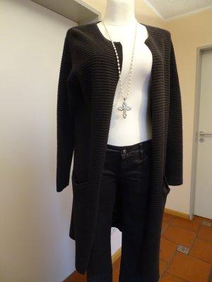Selected Femme Gebreide jas bruin-lichtbruin Katoen