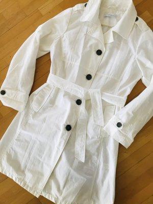 Brookshire Trench Coat white-black brown cotton