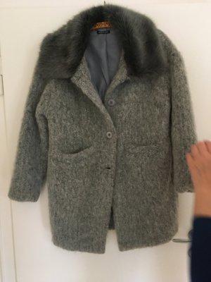Cappotto in lana argento