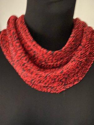 Zara Fazzoletto da collo rosso scuro-nero
