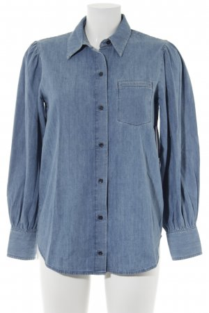 Paris Atelier Denim Shirt cornflower blue-blue cotton