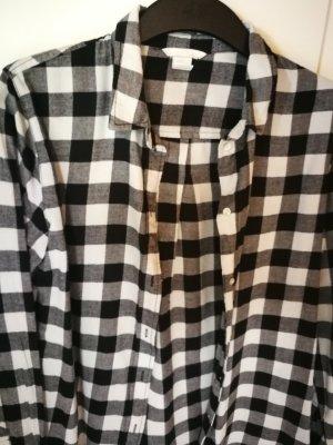 stylisches lässiges schwarz weißes Karo Hemd