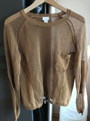 H&M Mesh Shirt light brown
