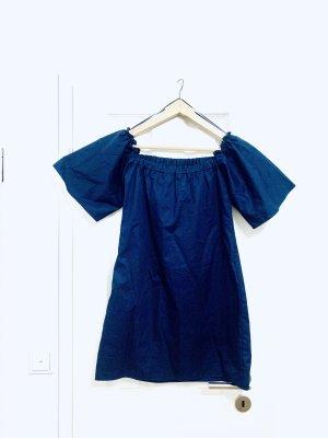 Stylisches Oberteil v Zara schulterfrei lang dunkelblau Gr. 38/ M