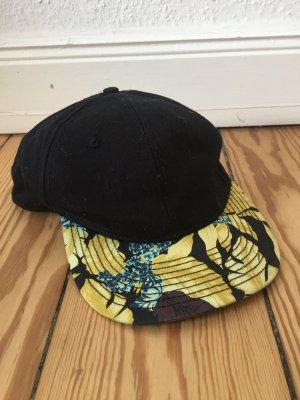 H&M Casquette de baseball noir-jaune coton