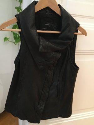 Stylisches, schwarzes ALL SAINTS Ledergilet, Gr. 36, wie neu (einmal getragen)