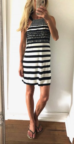 Promod Halter Dress black-white cotton