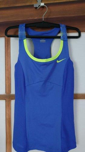 Nike Débardeur de sport jaune fluo-bleu violet