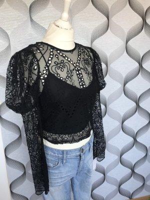 Stylisches Top/Bluse Zara (S) mit Spitze Neu !!