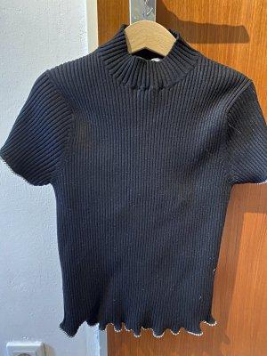 Zara Koszulka z golfem czarny