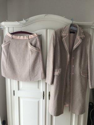 Vogue Abrigo de lana blanco puro-rosa
