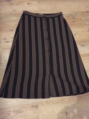 H&M Chaleco de punto largo negro-color bronce