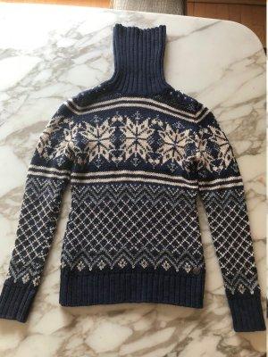 Marc O'Polo Norwegian Sweater dark blue-natural white mixture fibre