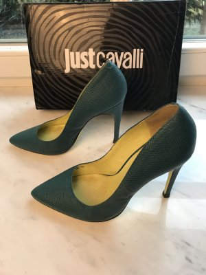 Cavalli High Heels yellow-cadet blue