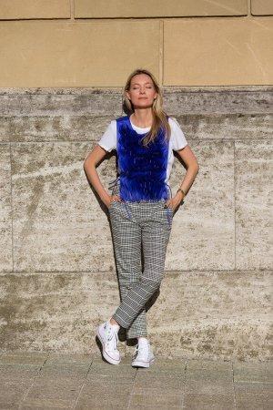 Zara Woman Wortelbroek wit-zwart